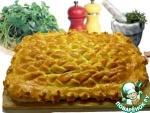Домашний плетенный пирог