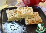 Песочный пирог со сметанной помадкой