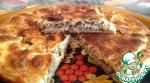 Слоеный пирог с рыбой и капустой