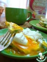 Пшенные блины с припеком и с яйцом-пашот