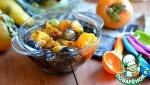 Десерт с фруктами и семенами чиа