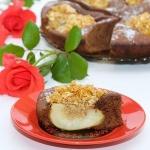 Пирог с грушами и медовыми хлопьями