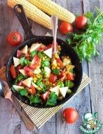 Горячая овощная сковорода