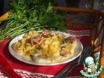 Клецки с колбасками в тыквенном соусе
