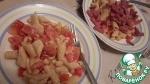 Теплый пикантный салат из фасоли с макаронами