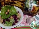 Тёплый салат из булгура с бобовыми