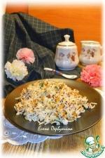 Ароматный рис с черемшой