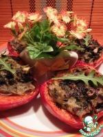 Перец, фаршированный картофелем и шпинатом
