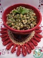 Перловка с фасолью и шпинатом