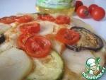 Постная лепешка с овощами