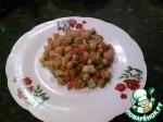 """Теплый салат """"Нут с карамелезироваными овощами"""""""