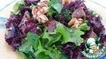 Салат с лолло, инжиром и орехами