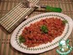 Гречка в остром томатном соусе