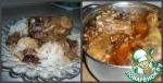 Курица с орехами и грибами в виноградном соусе
