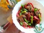Тёплый салат со стручковой фасолью