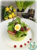 Весенний салат с джемовым соусом