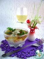 Салат в шампанском желе