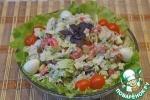 Салат из пекинской капусты с курицей и кальмаром