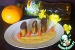 Блинчики на желтках с шоколадной начинкой