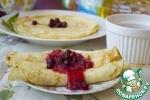 Яблочно-клюквенный соус к блинам