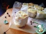 Слоёный пирог из лаваша с творогом и сыром