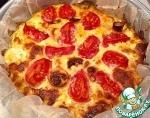 Картофельная запеканка с фетой и томатами