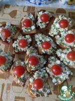 Вкусный бутерброд с печенью трески