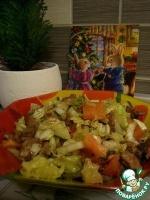 "Салат ""Печень и овощи"""