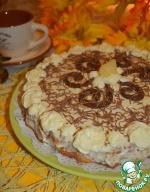 Ананасовый пирог с творожно-масляным кремом