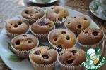 Маффины бисквитные со смородиной