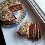 Кофейно-коньячный торт
