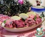 "Салат из скумбрии ""В розовом"""
