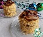 Закусочные пирожные с баклажаном и грибами