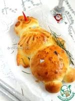 """Пирог с начинкой """"Весёлый снеговичок"""""""