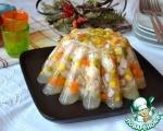 Аспик из курицы с овощами