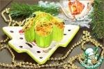 Бочонки с золотым пшеном и овощами