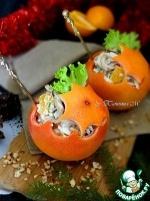 """Новогодние """"шары"""" с салатом"""