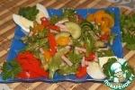 Салат с печеными перцами
