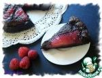 Миндально-шоколадный тарт с малиновыми грушами