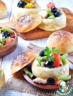 """Закусочные булочки, фаршированные салатом """"Нисуаз"""""""
