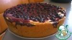 Открытый творожный пирог со смородиной