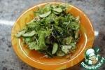 Зелёный салат с пророщенным машем