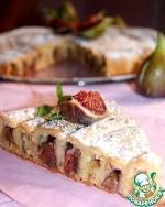 Кольцевой пирог с яблоками и инжиром