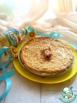 Блинный пирог с зеленью и творогом