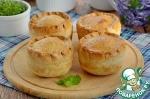 Пироги с грибами и фасолью