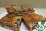 Диетический пирог с капустой и грибами
