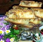Открытый яблочно-грушевый пирог