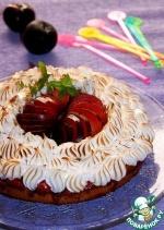 Сливочно-сливовый пирог