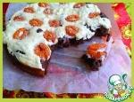 Пирог шоколадно-творожный с абрикосами