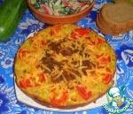 Кабачковый пирог с плавленным сыром